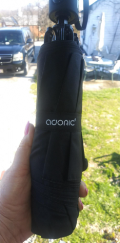 Adoric inverted umbrella travel umbrella with Reinforced Double Canopy photo review