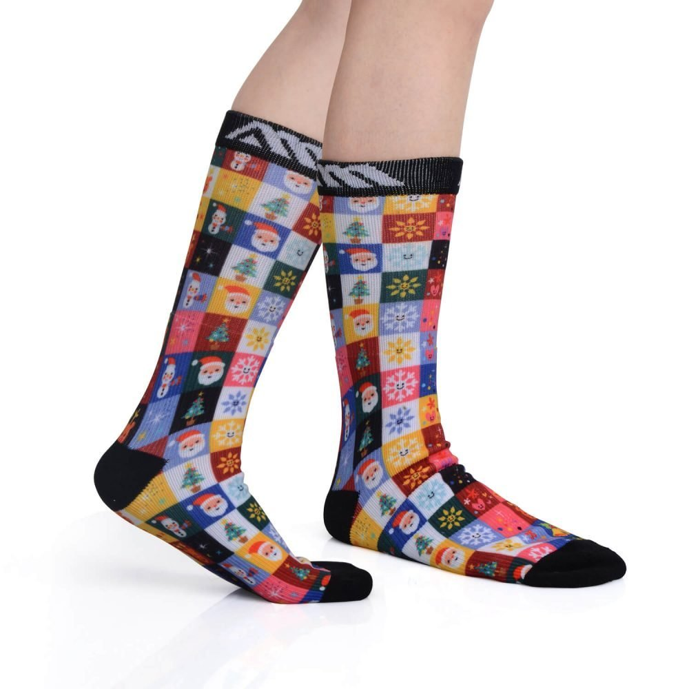 Christmas printed pressure socks