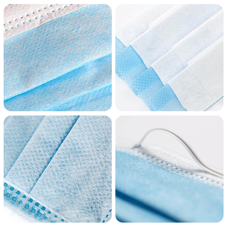 Disposable three-layer masks