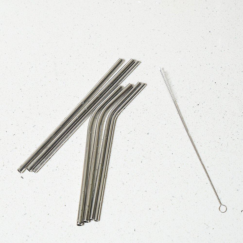 ADORIC Reusable Straws, Reusable Metal Straws, Set of 8