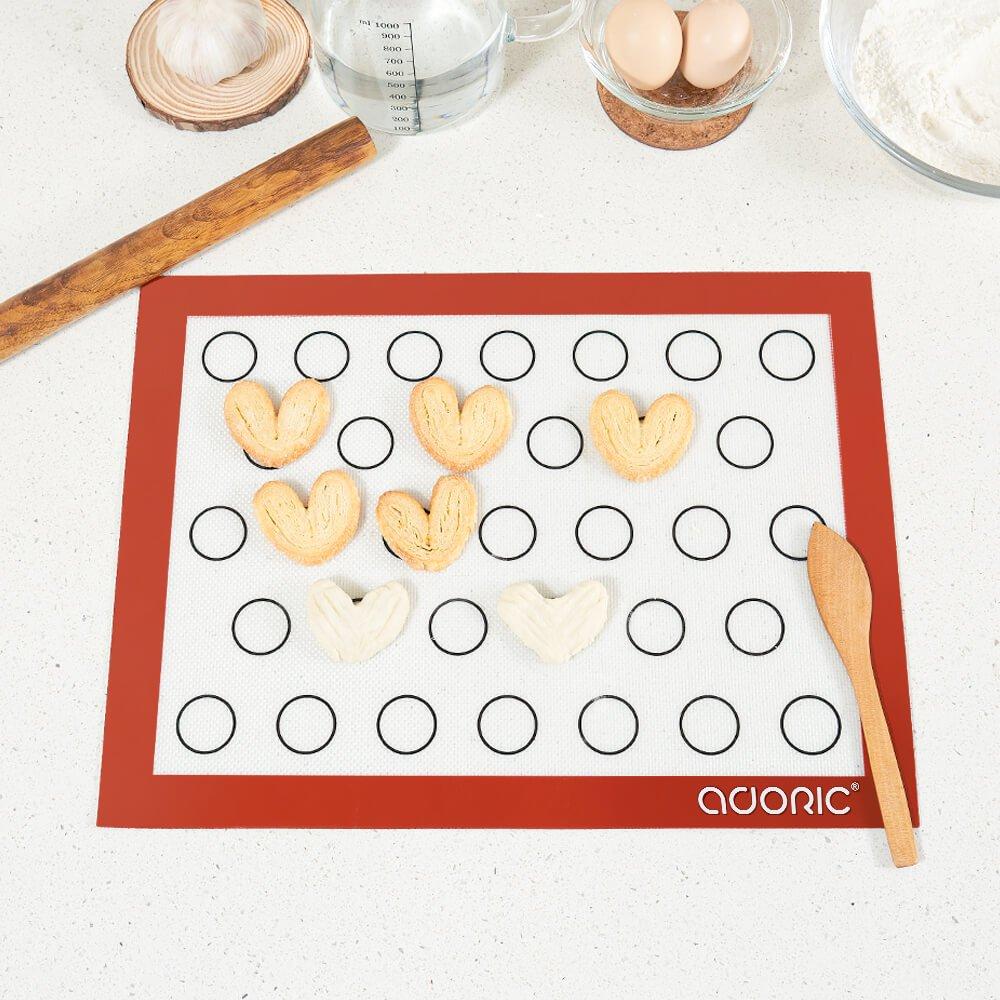 ADORIC Silicone Baking Mat, Non-stick Baking Mat, 3 Pack